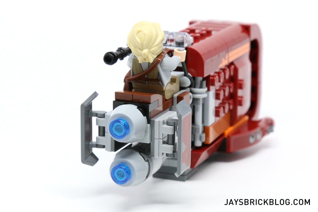 LEGO 75099 Rey's Speeder - Back View