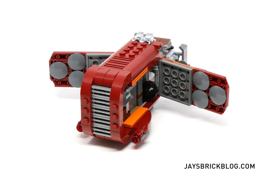 LEGO 75099 Rey's Speeder - Flaps Open