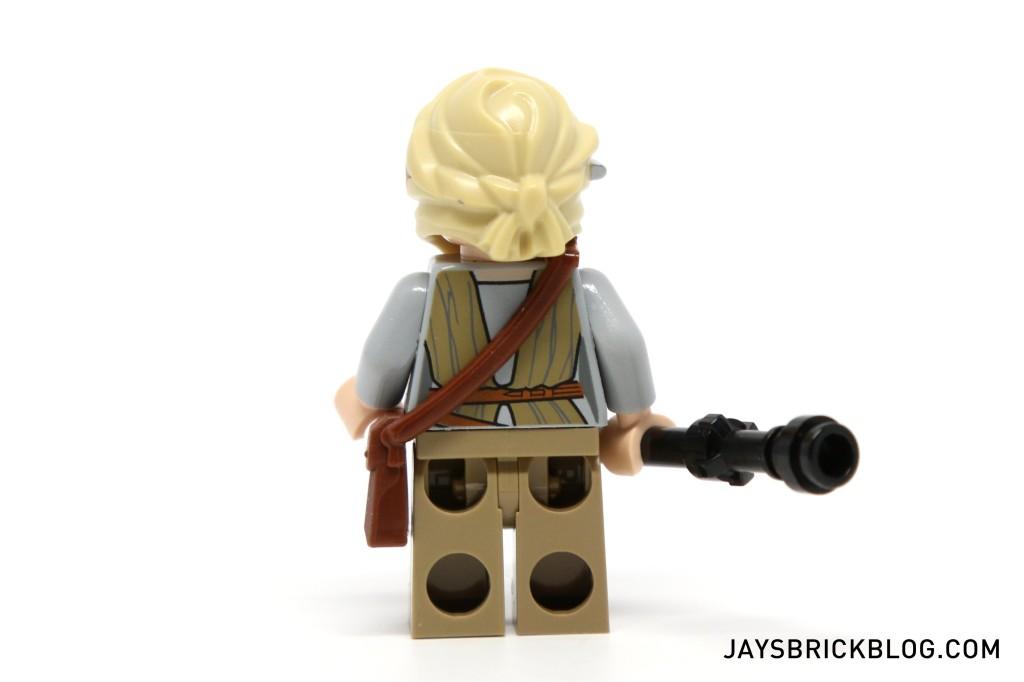 LEGO 75099 Rey's Speeder - Rey Minifigure Back Printing