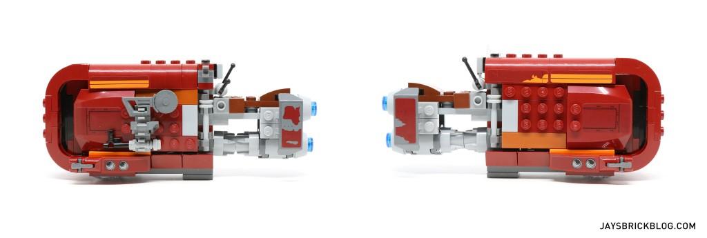 LEGO 75099 Rey's Speeder - Speeder Side View