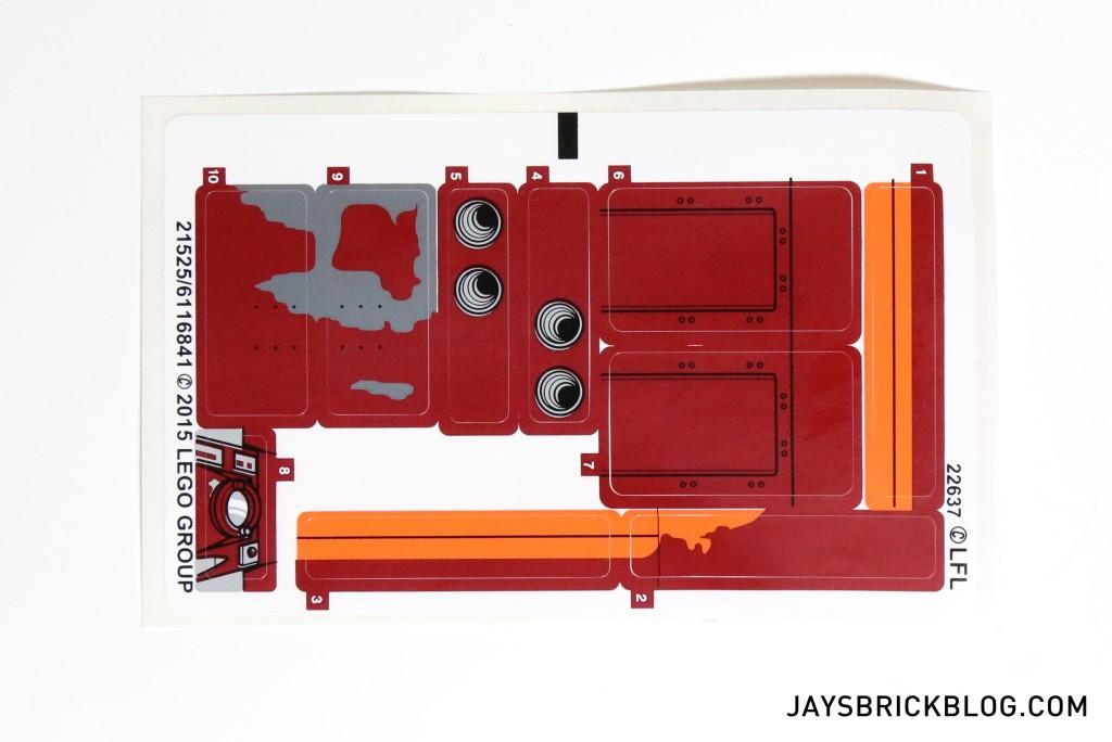LEGO 75099 Rey's Speeder - Sticker Sheet