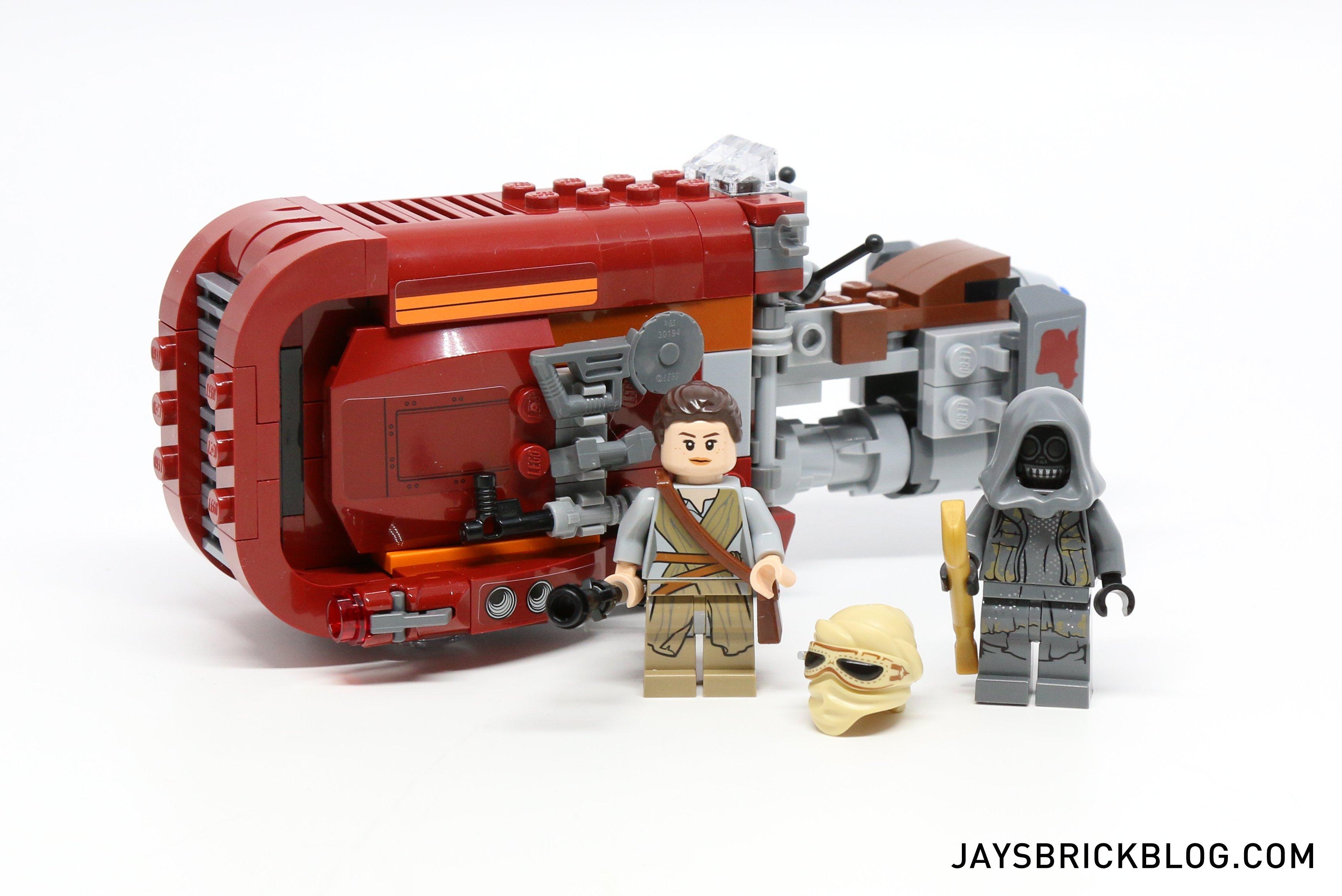 75099 LEGO Complete Star Wars Rey/'s Speeder minifigures instructions Disney