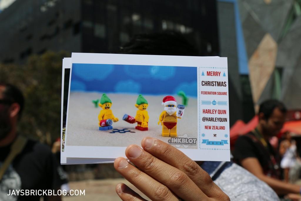 LEGO Brickstameet Fed Square - Instagram Christmas Postcards