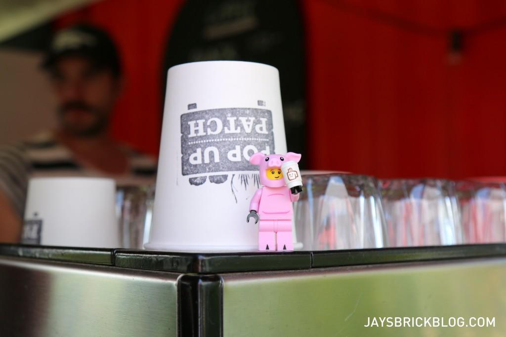 LEGO Brickstameet Fed Square - Piggy Guy Pop Up Patch Coffee