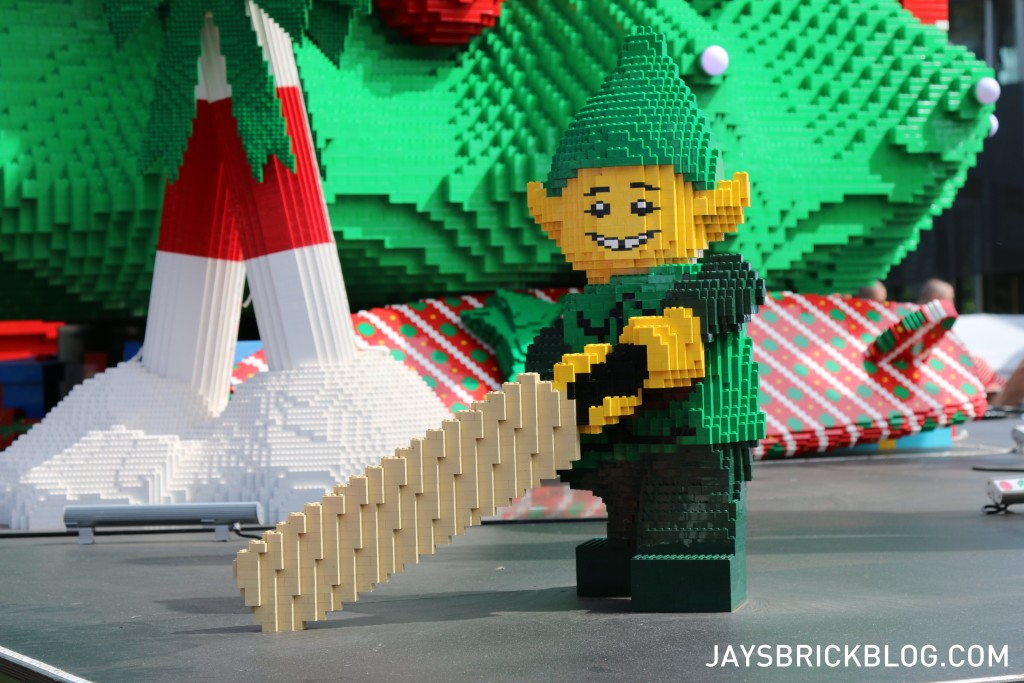 LEGO Christmas Tree Federation Square Melbourne - Elves with Cricket Bat