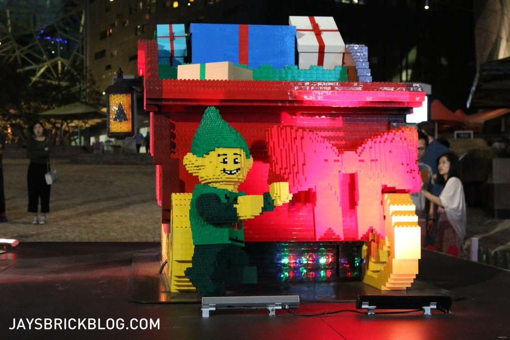 LEGO Christmas Tree Federation Square Melbourne - Santa's Sleigh