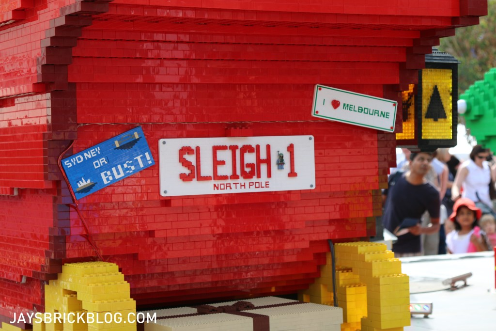 LEGO Christmas Tree Federation Square Melbourne - Sleigh 1 License Plate