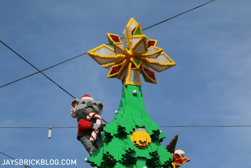 LEGO Christmas Tree Federation Square Melbourne - Star During The Day