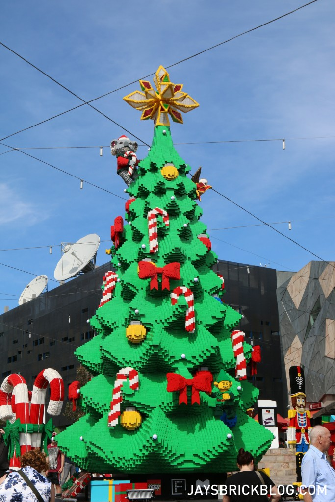 LEGO Christmas Tree Federation Square Melbourne - Tree During The Day