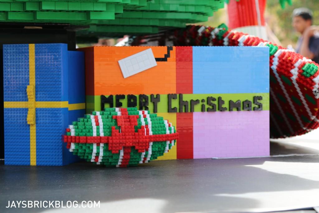 LEGO Christmas Tree Federation Square Melbourne - Wrapped AFL Ball
