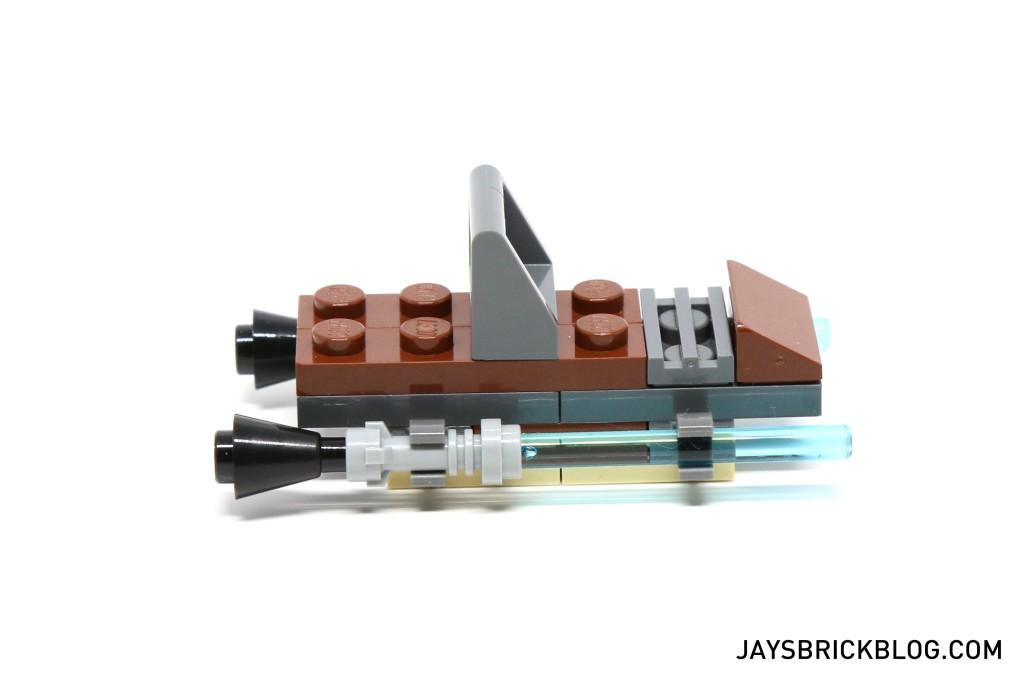 LEGO Star Wars Advent Calendar 2015 Day 23 - Lightsaber Sleigh Side View