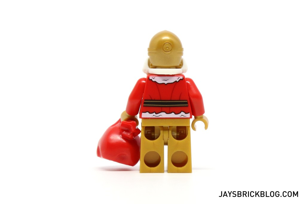 LEGO Star Wars Advent Calendar 2015 Day 24 - C-3PO Santa Minifigure Back Printing