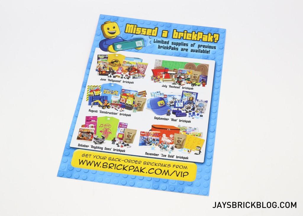 MinifigPak December - Leaflet