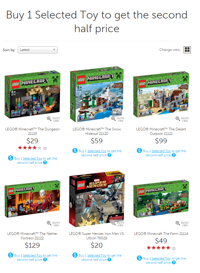 Target LEGO Boxing Day Sale 2015