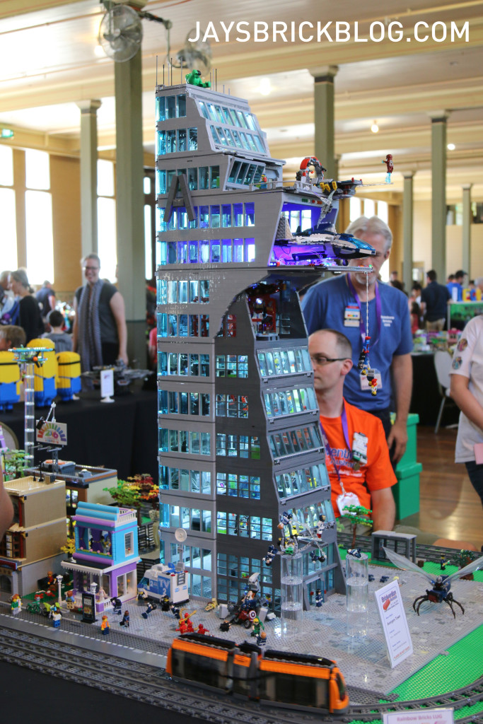 Brickvention 2016 Avengers Tower by Kevin of Rainbow Bricks