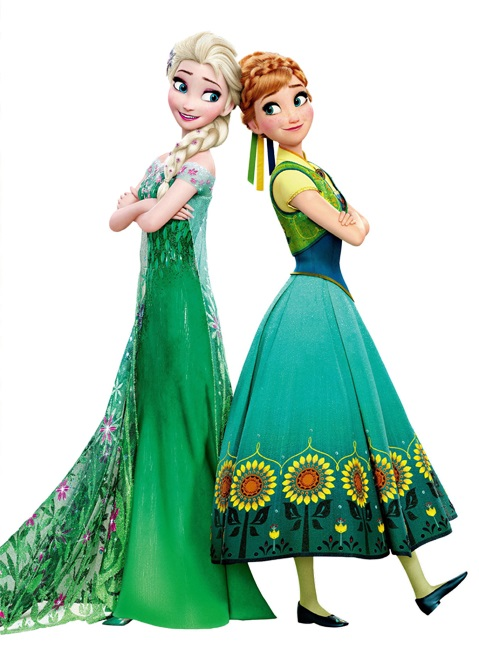 Elsa and Anna Frozen Fever Dress