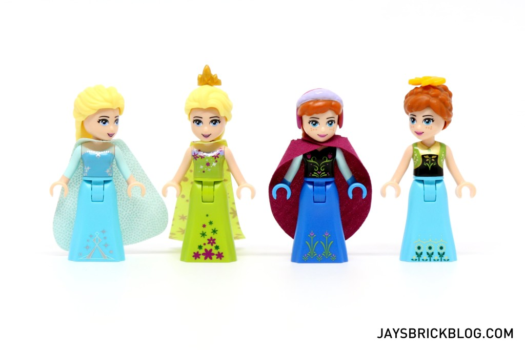 LEGO 41068 Frozen Arendelle Castle Celebration - Elsa and Anna Comparison