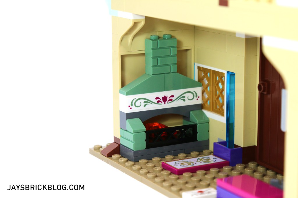 LEGO 41068 Frozen Arendelle Castle Celebration - Interior Fireplace