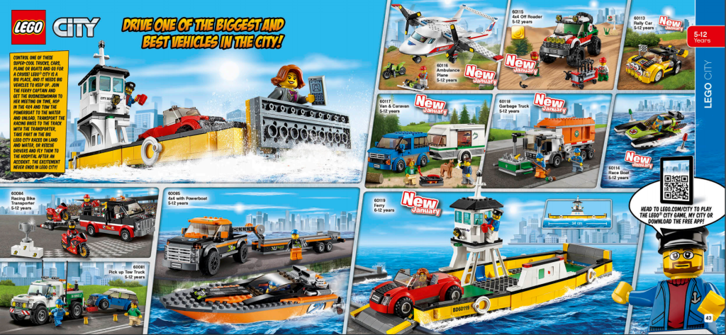 LEGO Australia Catalogue January to May 2016 - City Vehicles