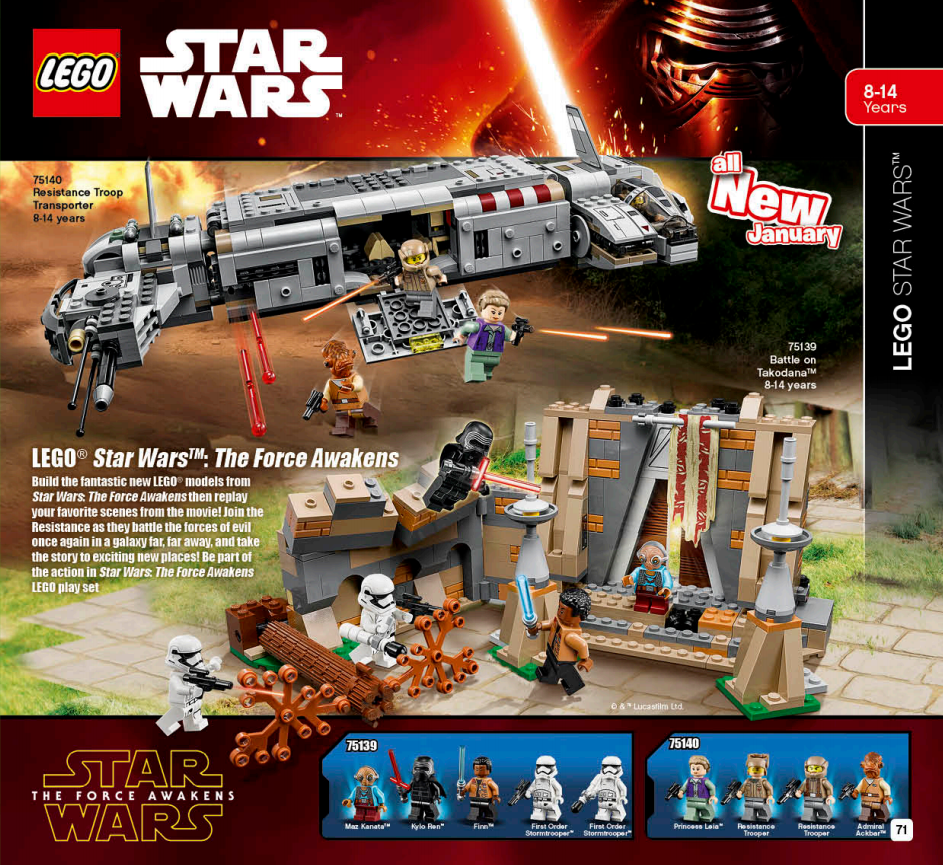 LEGO Australia Catalogue January to May 2016 - Star Wars The Force Awakens