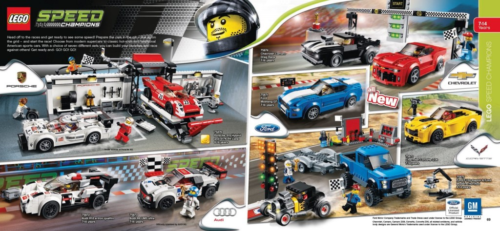 LEGO Catalogue 2016 Speed Champions Ford, Chevrolet, Audi