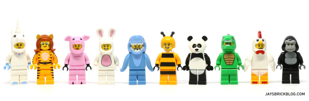 LEGO Minifigures Series 15 - Animal Suit Minifigures 2016