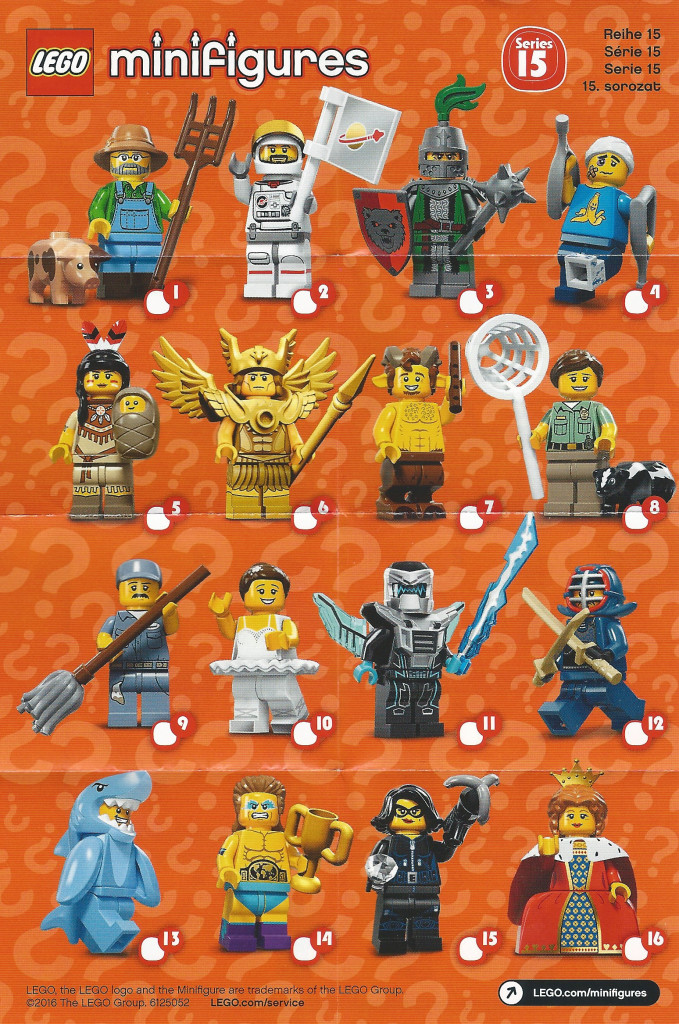 LEGO Minifigures Series 15 - Character Checklist