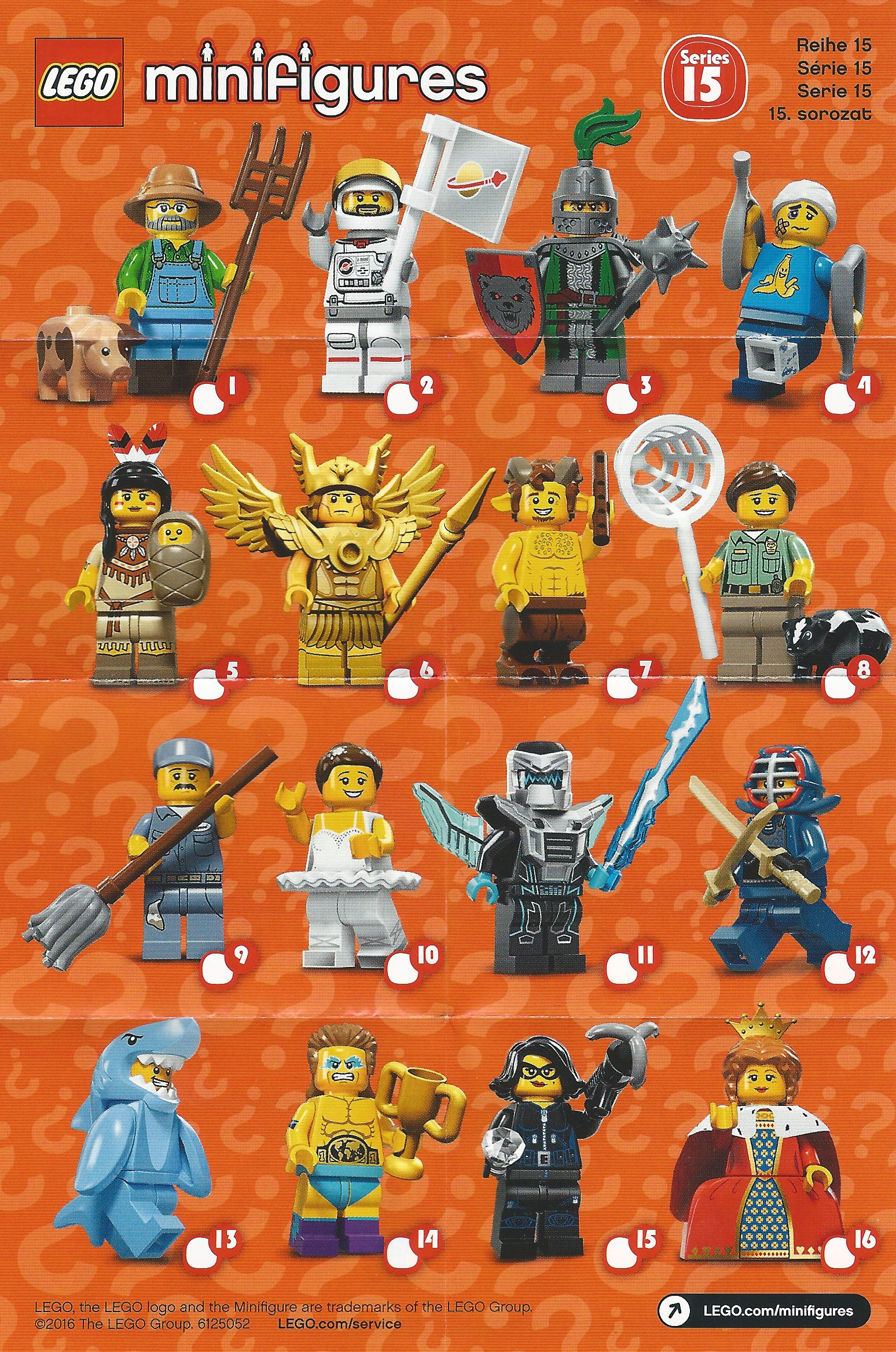 Folded Checklist Series 16 Mini Poster Only LEGO Minifigures