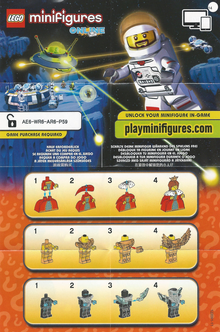 Lego Series 15 Unique Identification Codes On The Instructions And