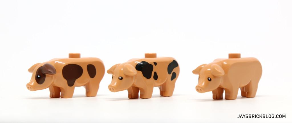 LEGO Minifigures Series 15 - Pig Comparison