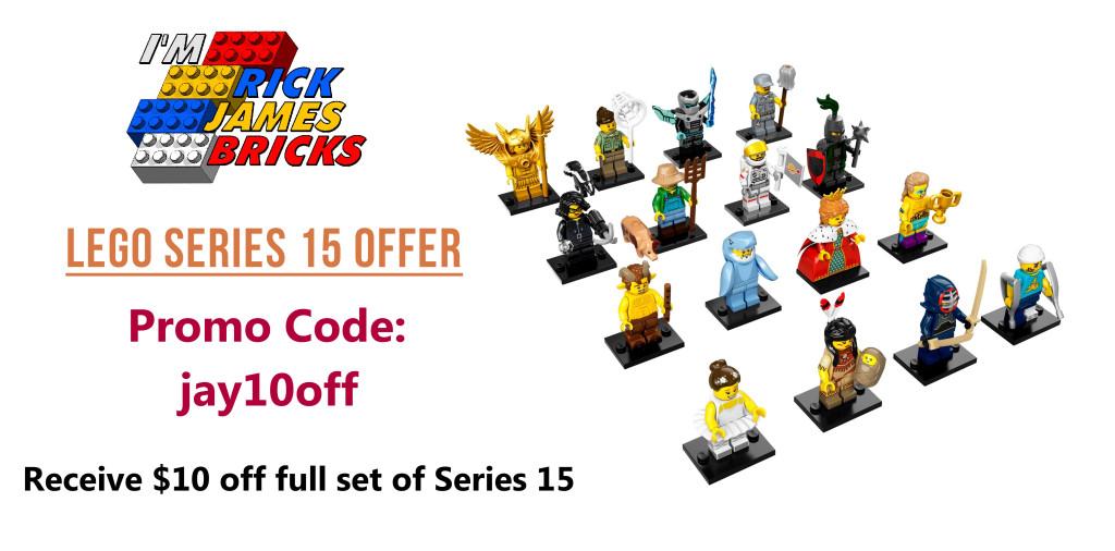 LEGO Series 15 Minifigures Full Set Promo Code