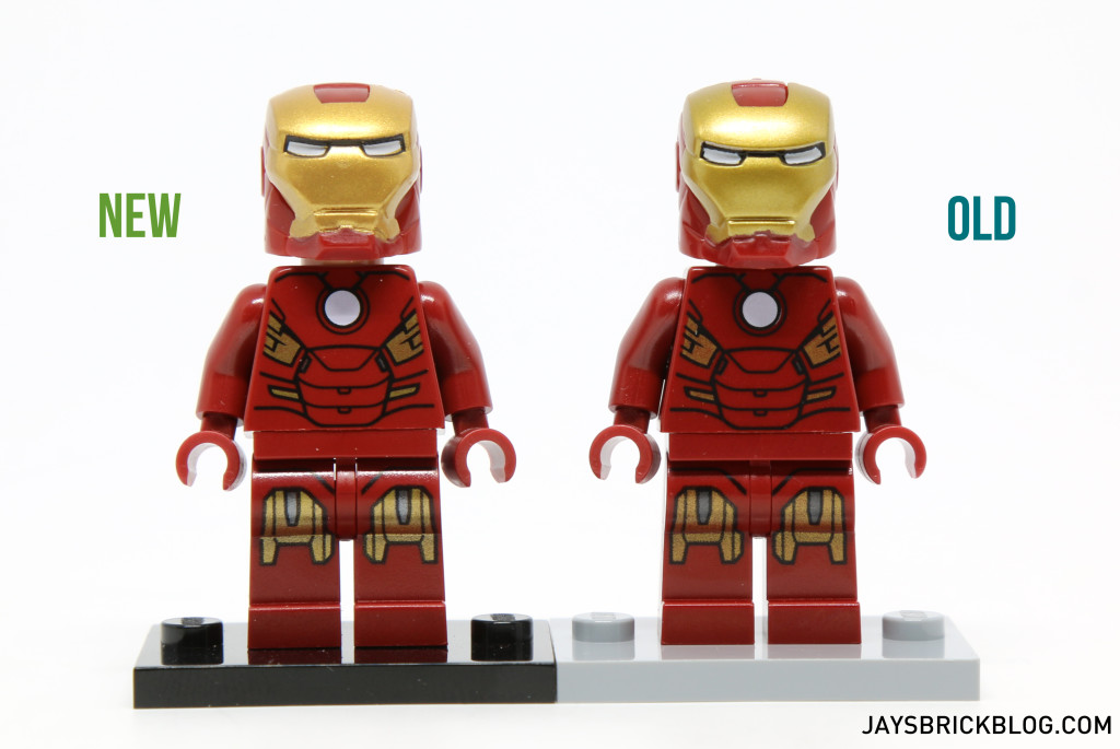 LEGO Iron Man MK7 Armour Minifigure Comparison