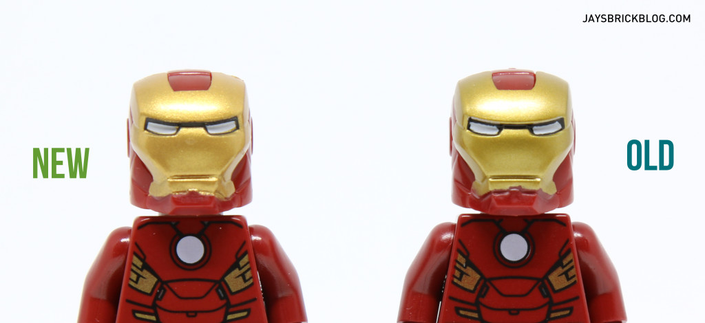 Iron Man 6869 and 10721 Minifigure Comparison - Helmet