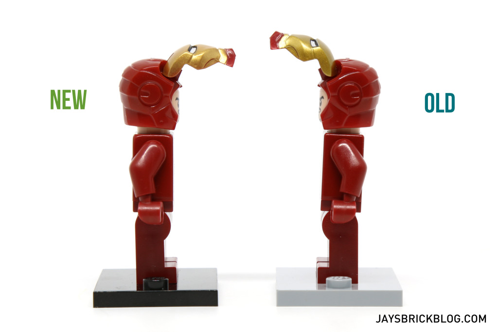 Iron Man 6869 and 10721 Minifigure Comparison - Helmet Opening