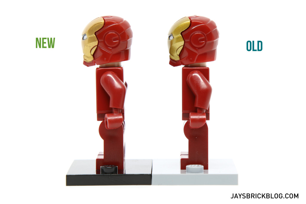 Iron Man 6869 and 10721 Minifigure Comparison - Side View