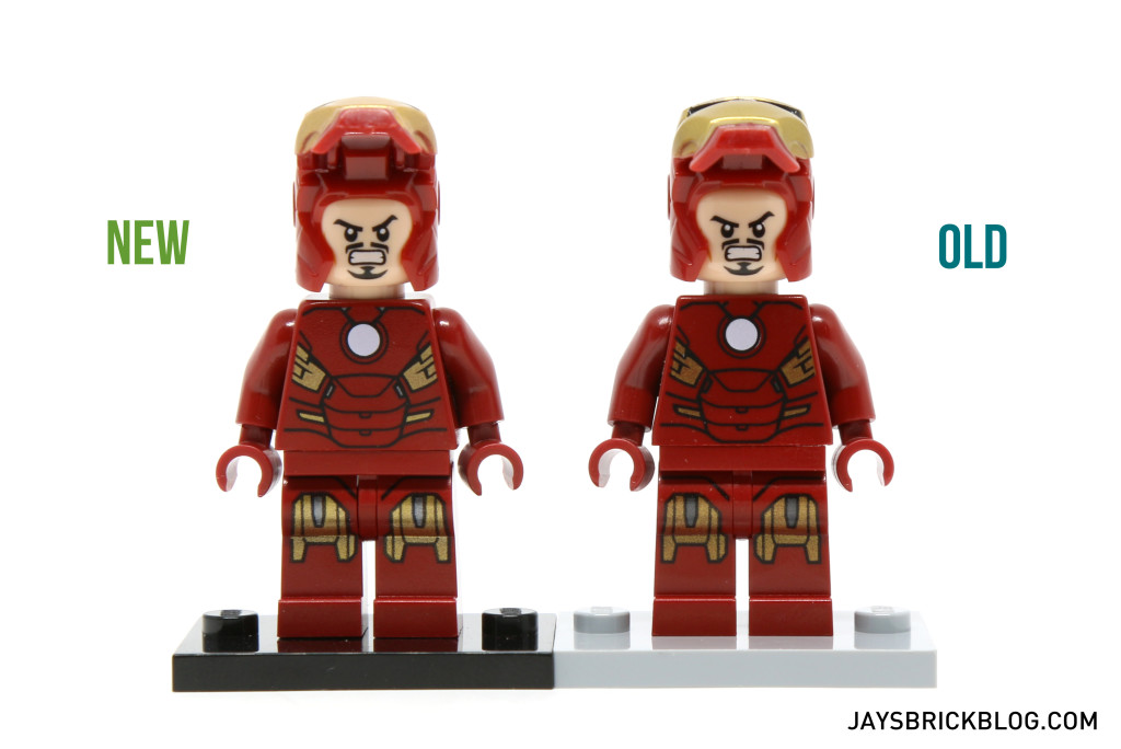 Iron Man 6869 and 10721 Minifigure Comparison - Tony Stark Alternate Face