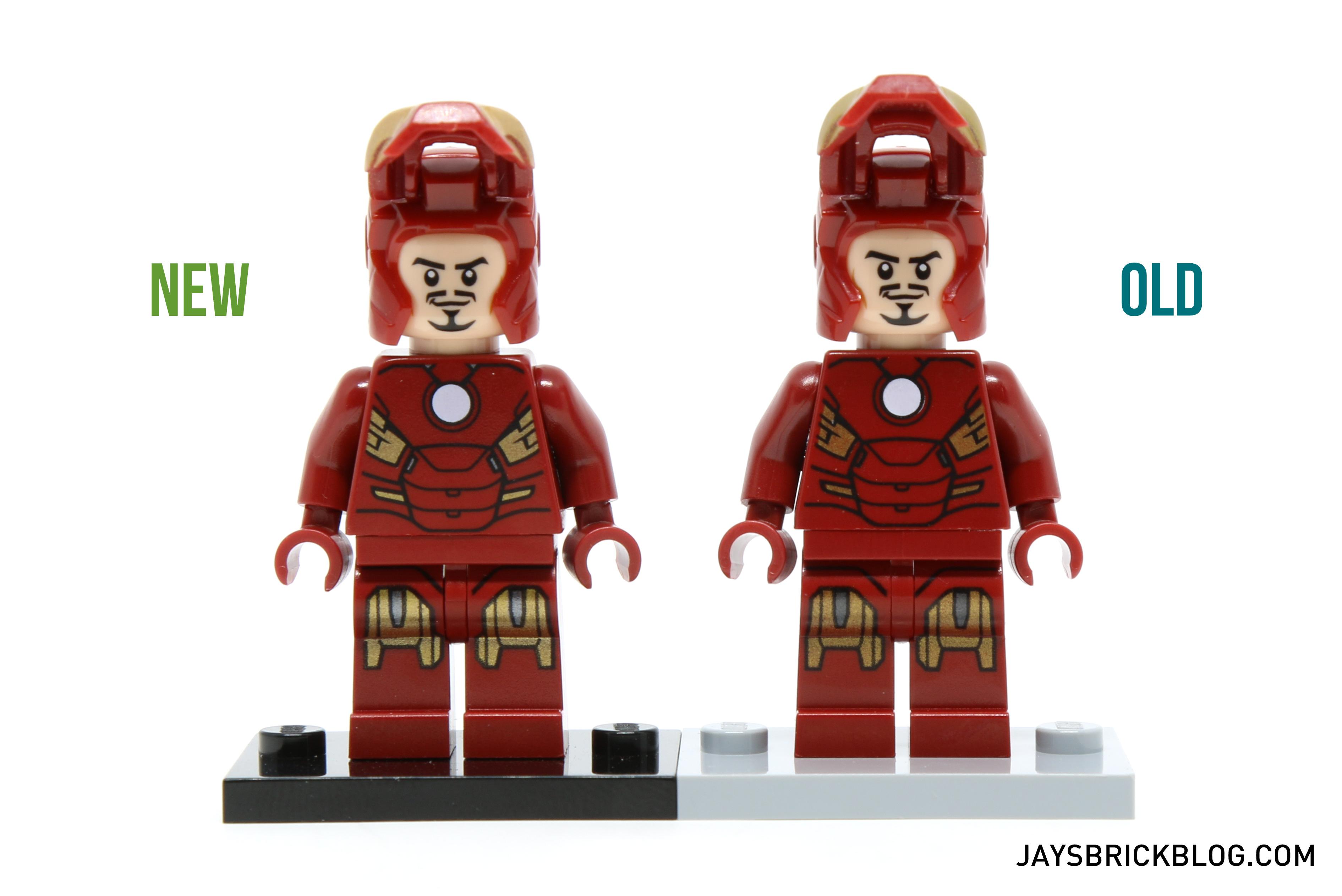 Iron Man 6869 and 10721 Minifigure Comparison - Tony Stark Face