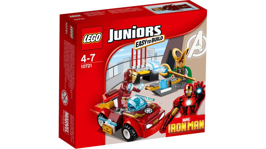 LEGO 10721 Juniors Iron Man vs Loki - Box Art