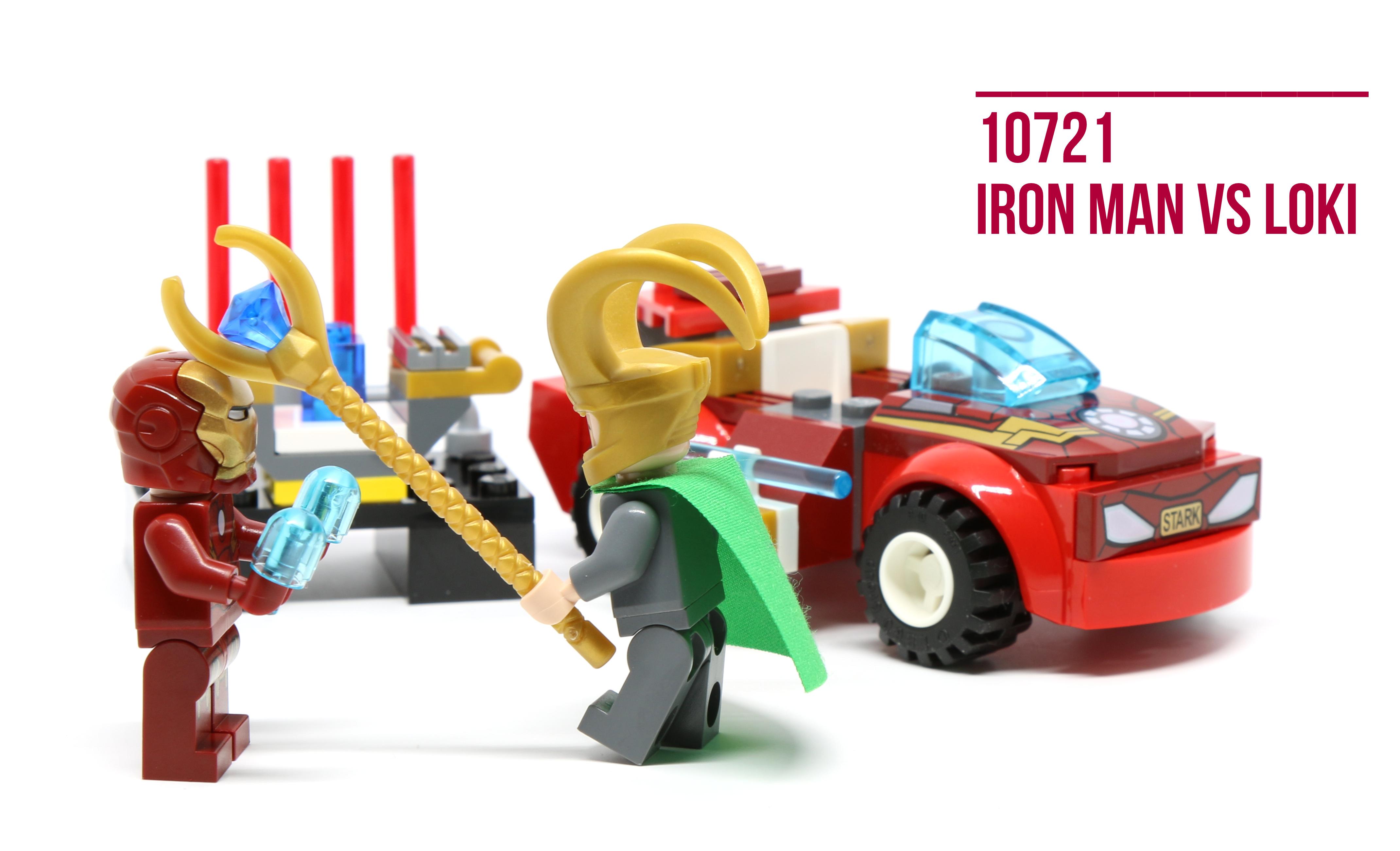 NO MINIFIGURES INCLUDED. LEGO 10721 JUNIORS MARVEL IRON MAN Vs LOKI SET