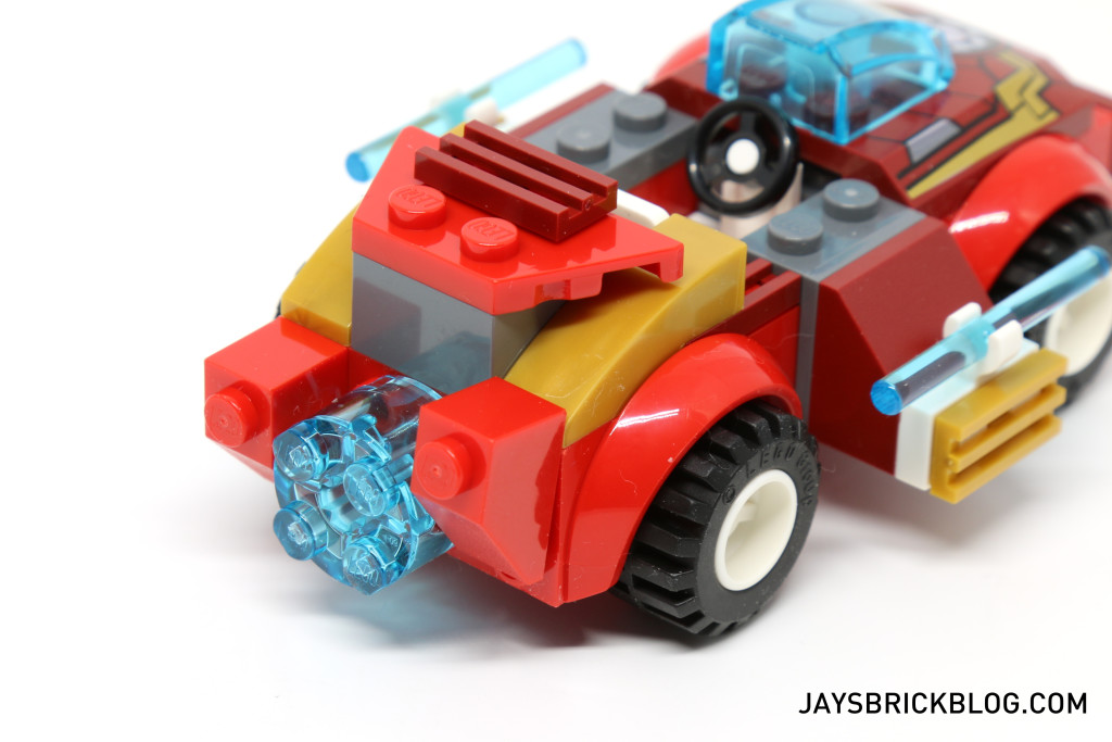 LEGO 10721 Juniors Iron Man vs Loki - Iron Man Car Back View