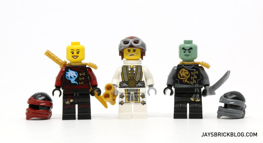 LEGO 70604 Tiger Widow Island - Nya, Sensei Wu, Cole Minifig Unmasked