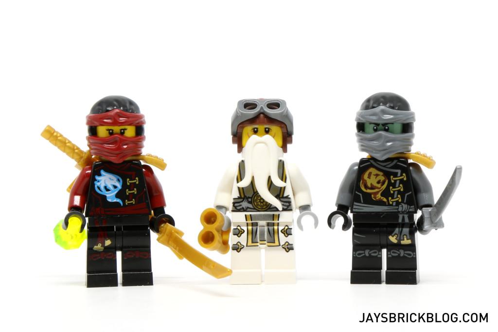 LEGO 70604 Tiger Widow Island - Nya, Sensei Wu and Cole Minifigures