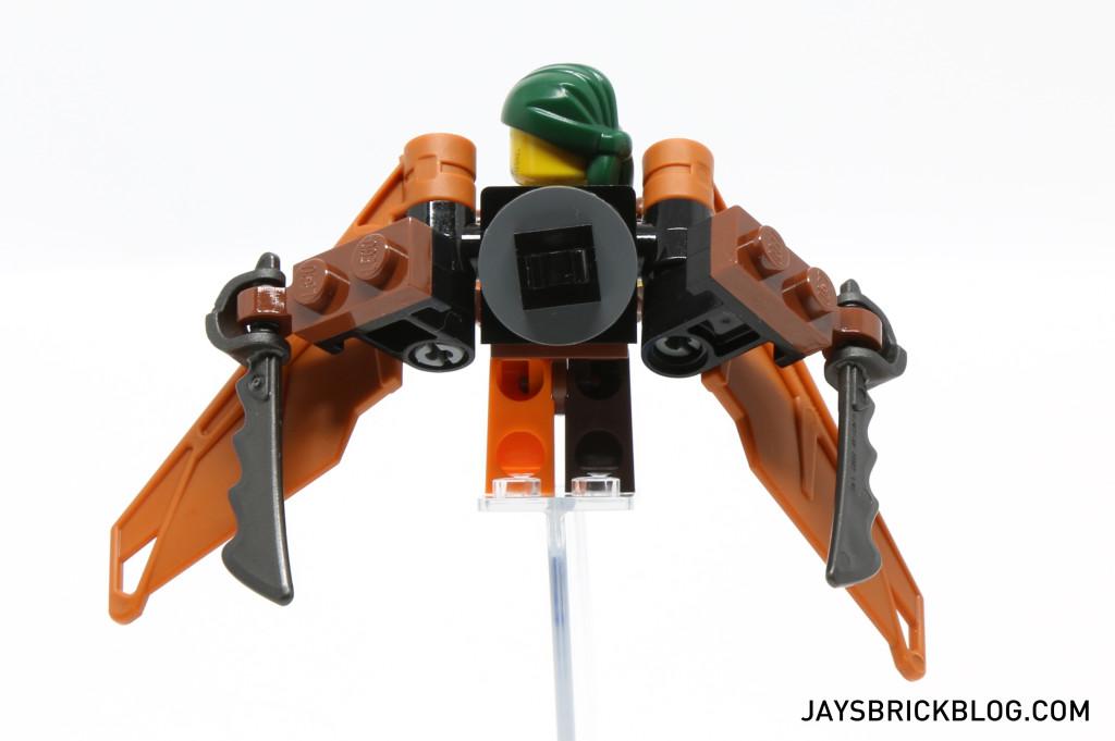 LEGO 70604 Tiger Widow Island - Pirate Flyer Back View