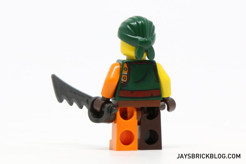 LEGO 70604 Tiger Widow Island - Sqiffy Back View