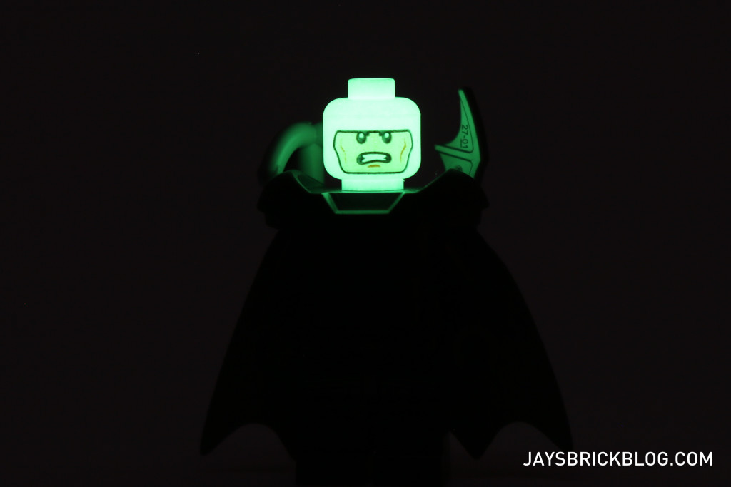 LEGO 76044 Clash of the Heroes - Batman glow in the dark head