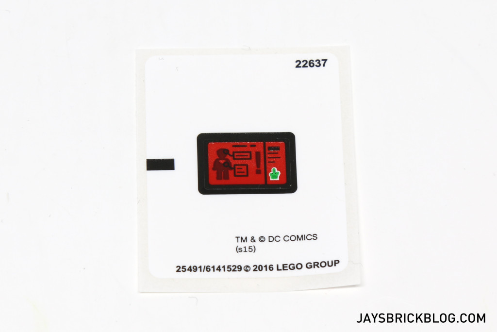 LEGO 76044 Clash of the Heroes - Sticker Sheet