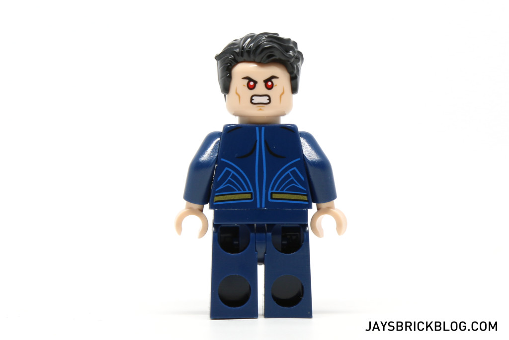 LEGO 76044 Clash of the Heroes - Superman Minifigure Back Printing