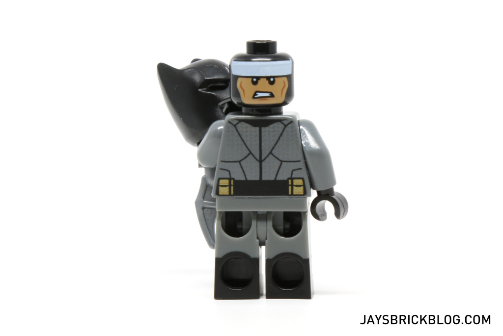LEGO 76045 Kryptonite Interception - Batman Minifig Back Printing