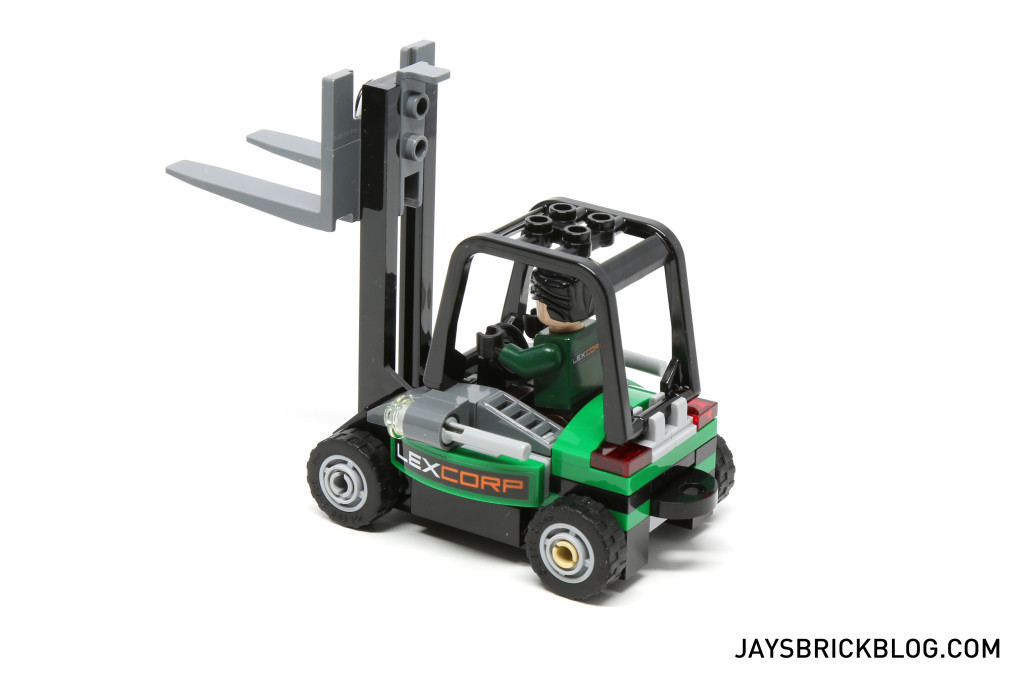 LEGO 76045 Kryptonite Interception - LexCorp Forklift Side View