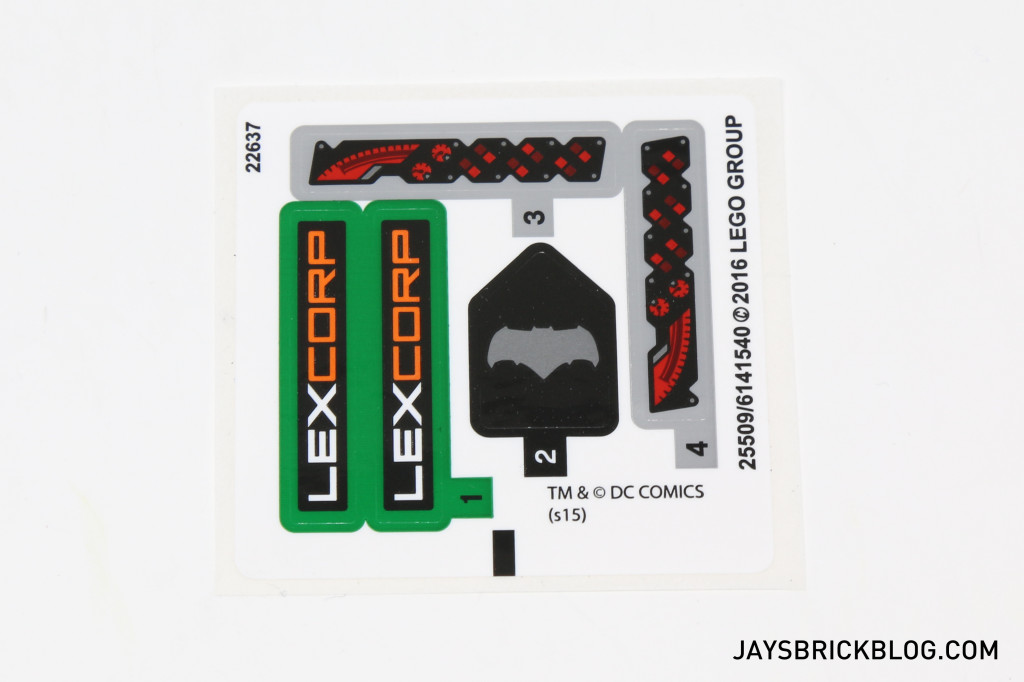 LEGO 76045 Kryptonite Interception - Sticker Sheet